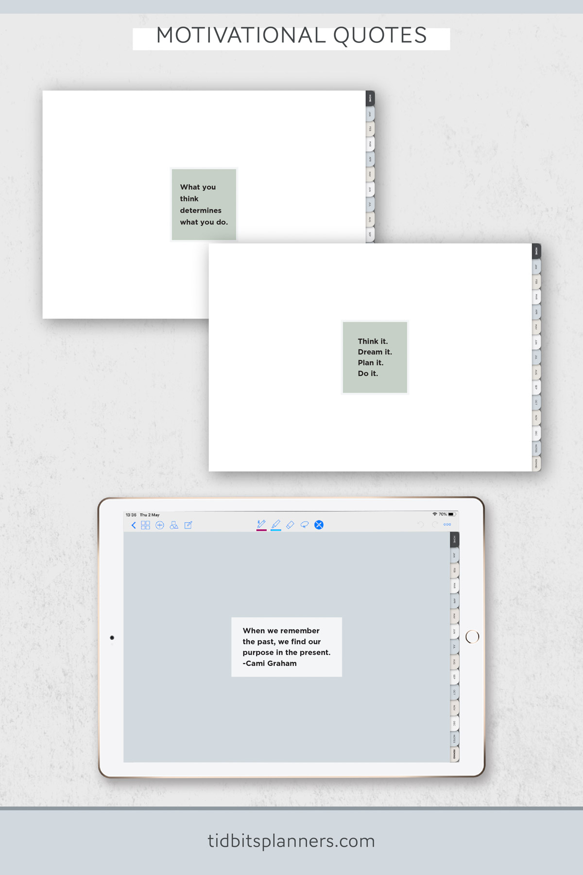 Digital pages in the TIDBITS Day Planner