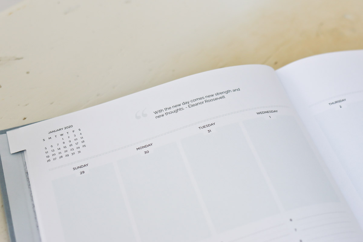 Pages included in the TIDBITS Day Planner