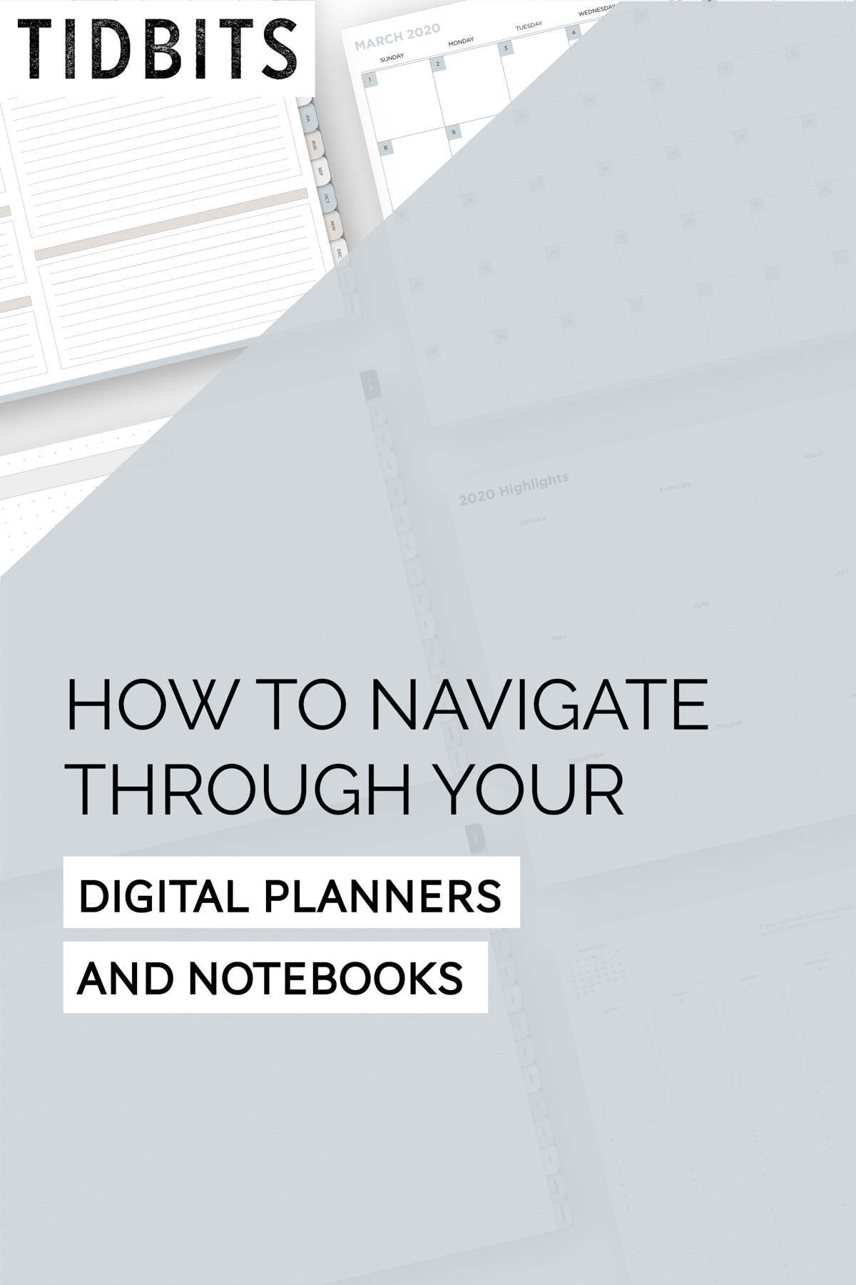How to navigate through your digital planner and notebooks