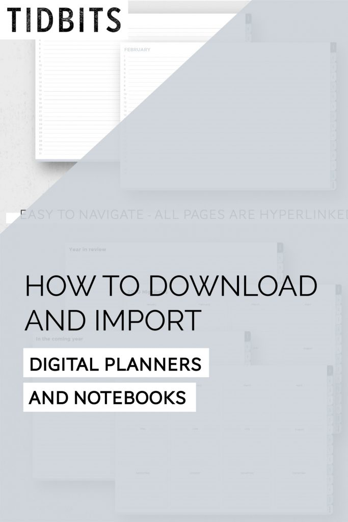 How to Download and Import digital planners and notebooks