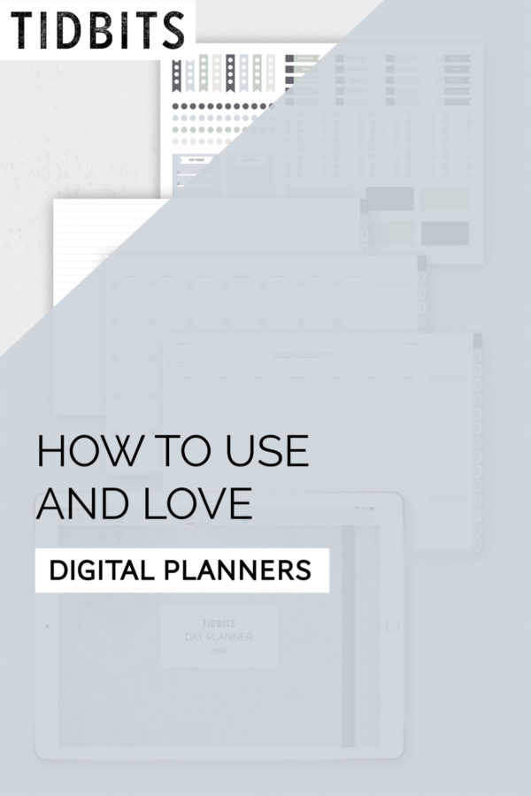 How to use and love digital planners