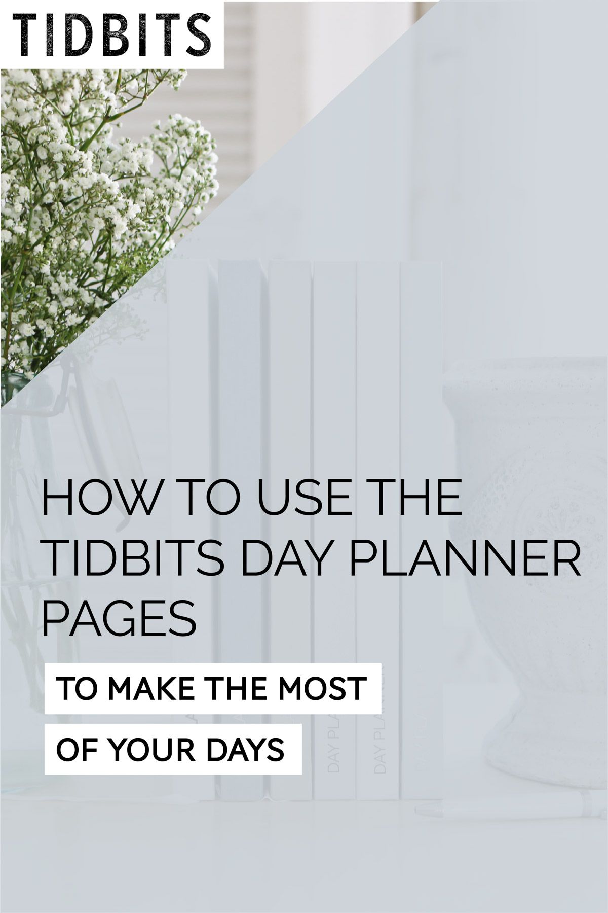 how to use the tidbits day planner