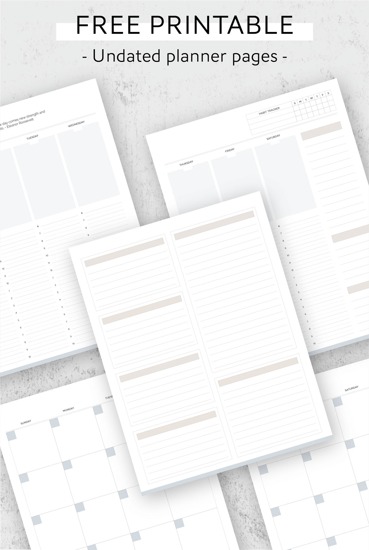 free printable day planner pages.