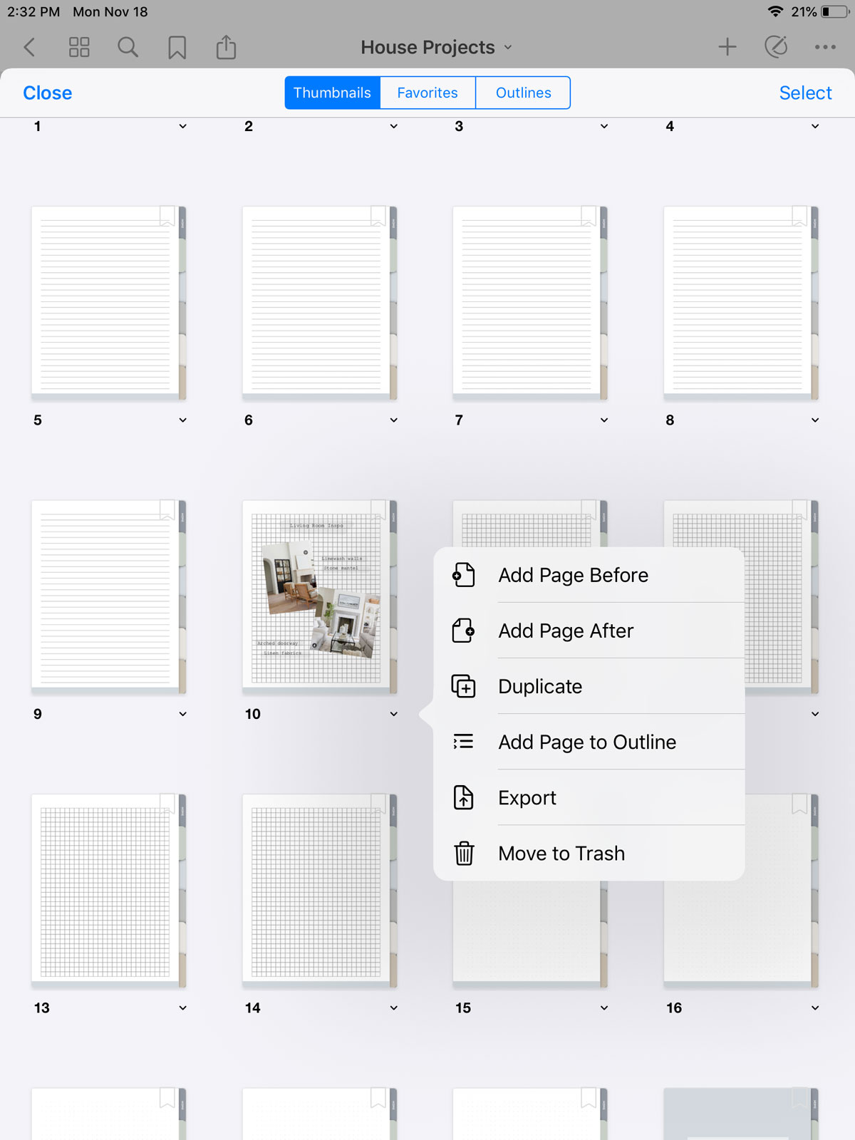 how to add and delete pages in goodnotes