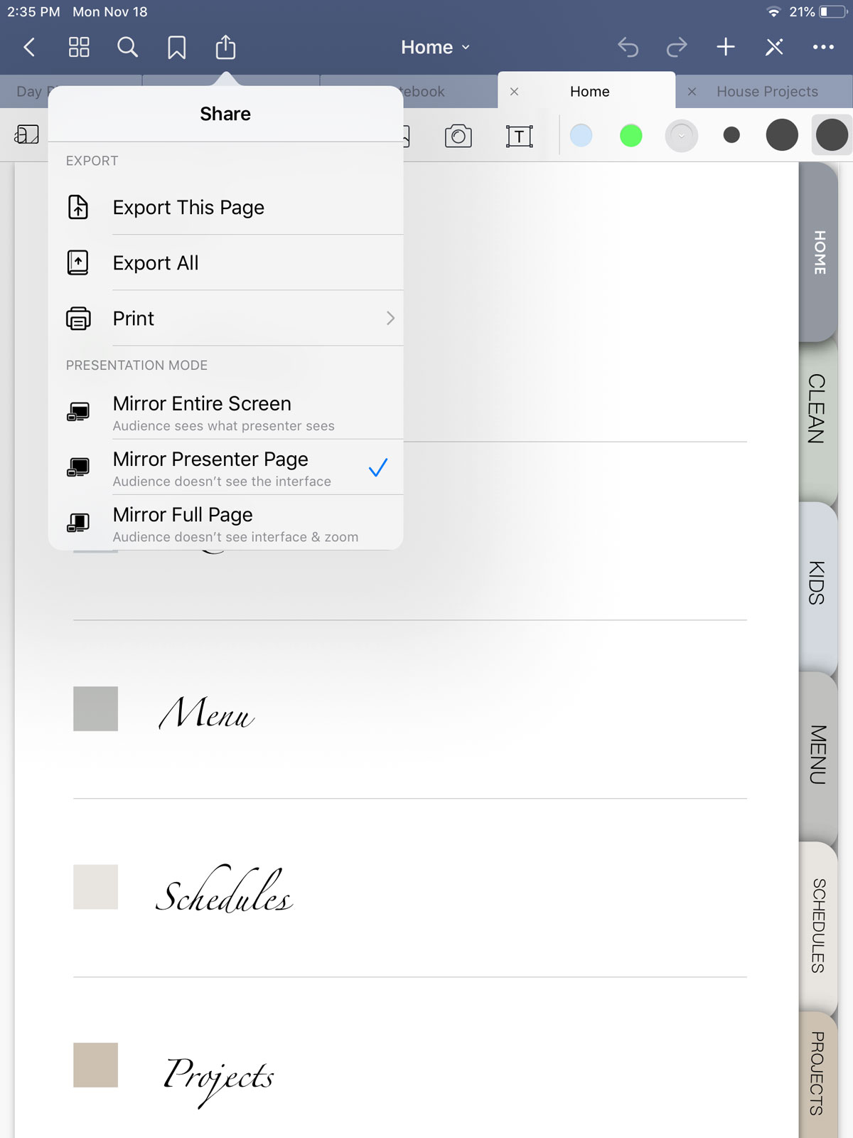 navigate your digital products in Goodnotes App