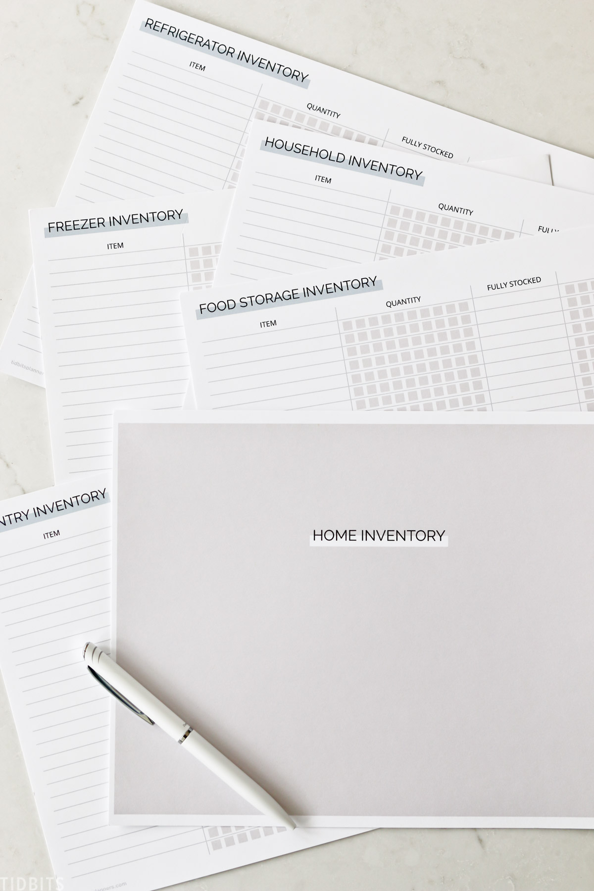 Free printable Home Inventory Pack
